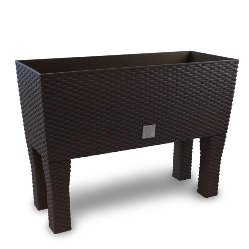 rattan blumenk bel pflanzk bel blumenkasten pflanzkasten umbra 80 cm standbein ebay. Black Bedroom Furniture Sets. Home Design Ideas