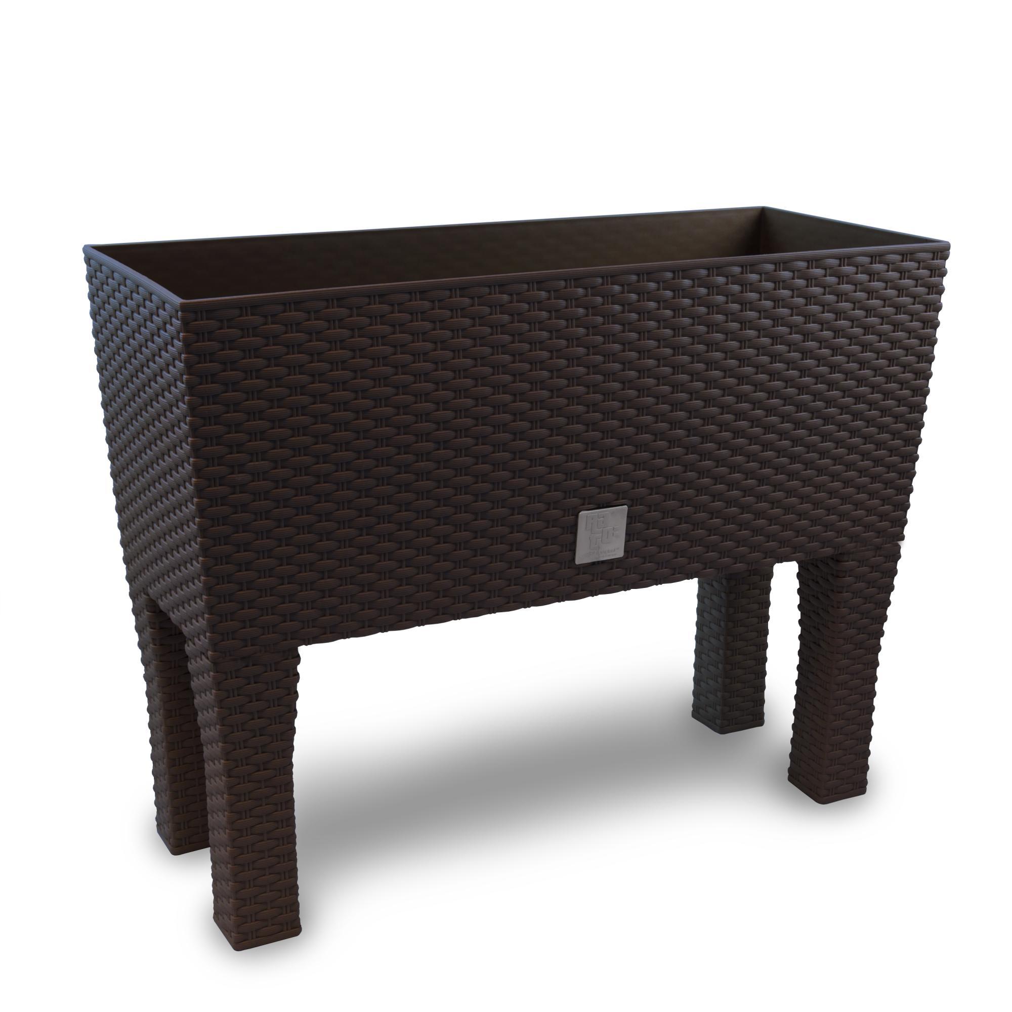 rattan blumenk bel pflanzk bel blumenkasten pflanzkasten umbra 60 cm standbein ebay. Black Bedroom Furniture Sets. Home Design Ideas