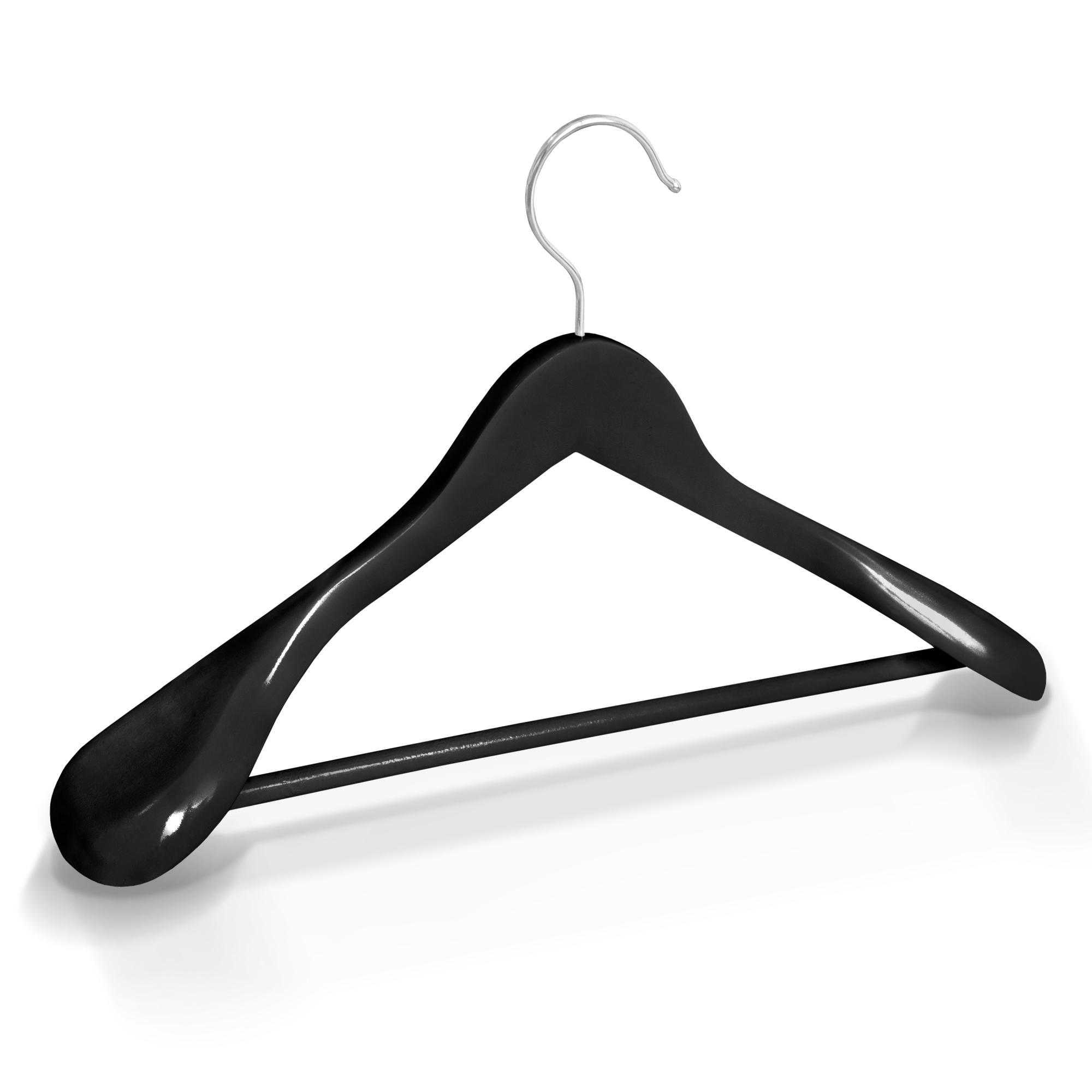 kleiderb gel holz schwarz breite schulterauflage steg holzb gel garderobenb gel ebay. Black Bedroom Furniture Sets. Home Design Ideas