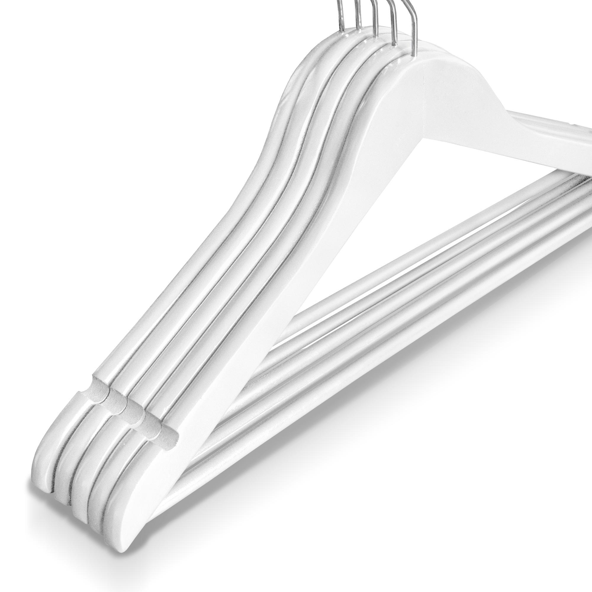 10 st ck kleiderb gel holz wei holzb gel mit hosenstange. Black Bedroom Furniture Sets. Home Design Ideas